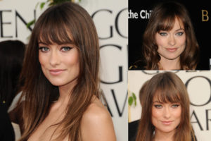 should i get bangs? olivia wilde bangs. stone fox hair salon mount pleasant vancouver